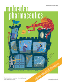 Cover of Molecular Pharacuetics featuring work by Professor Phil Low